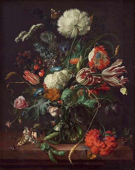 Vase of Flowers (1645) – Jan Davidsz de Heem