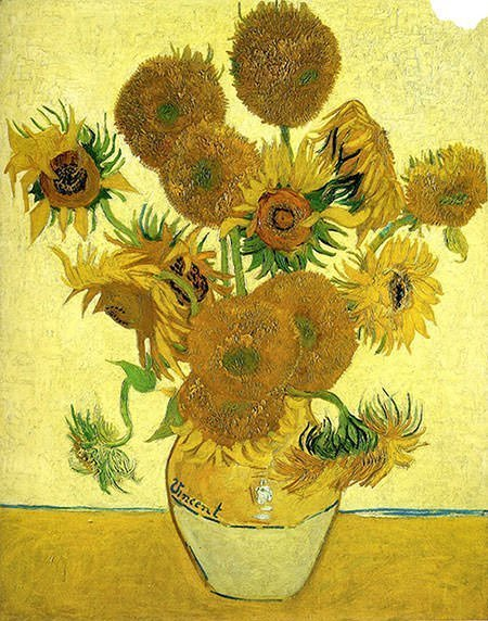 Vase with Fifteen Sunflowers (1888) – Vincent Van Gogh